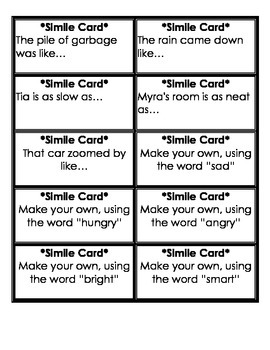 Simile Cards
