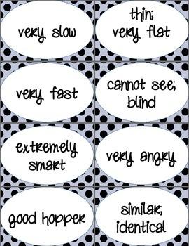 Simile Cards (Black & White Polka Dot Damask)
