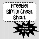 FREE Simile Cheat Sheet for Writing (Adjective List)