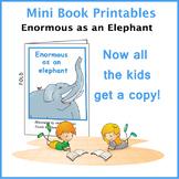 Simile: Enormous as an Elephant Mini Book