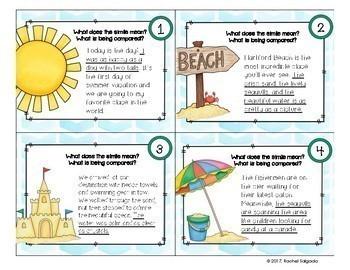 Simile Figurative Language Task Cards