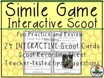 Simile Task Cards Scoot Game