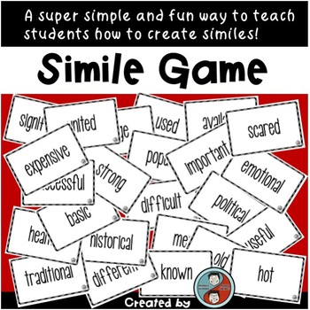 Simile Game Interactive Lesson To Practice Constructing Similes