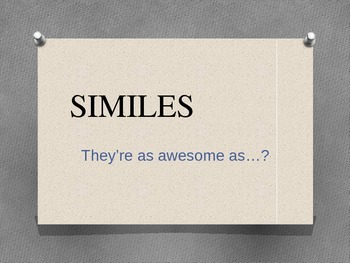 Simile Introduction