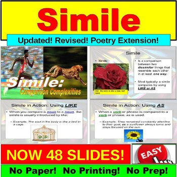 Simile : Lessons and Exercises PowerPoint