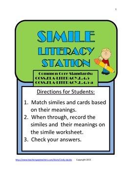 Simile Literacy Station