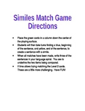 Simile Match Station Folder Game for Centers, DIY's, and Daily 5