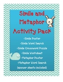 DIGITAL FIGURATIVE LANGUAGE Simile Metaphor Fun ACTIVITY WORKSHEETS