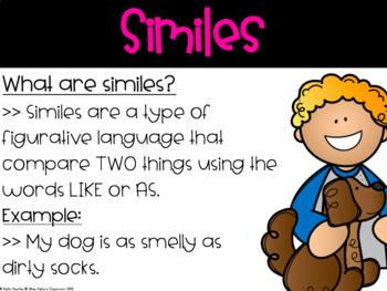 Simile & Metaphor Digital Task Cards (Common Core Aligned)