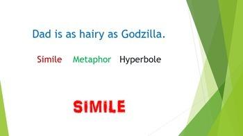 Simile Metaphor Hyperbole Figurative Language PowerPoint
