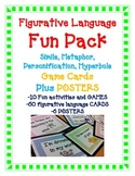Simile Metaphor Hyperbole Personification FUN PACK (60CARDS, 10GAMES, 6 POSTERS)