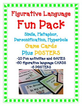 Simile Metaphor Hyperbole Personification FUN PACK (60CARD