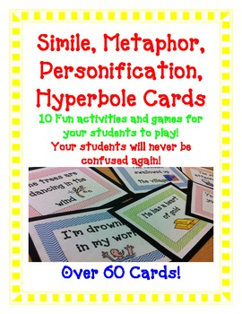FIGURATIVE LANGUAGE Simile Metaphor Hyperbole Personification GAMES