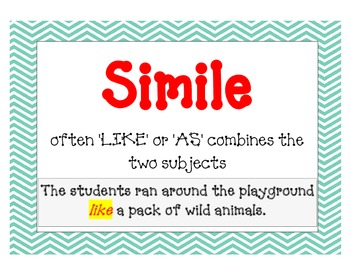 FIGURATIVE LANGUAGE MEGA BUNDLE (60 Cards, 10 Games, 6 Posters, 5 Worksheets)