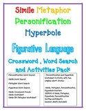 FIGURATIVE LANGUAGE Simile Metaphor Personification Hyperbole WORKSHEET Bundle