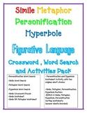 FIGURATIVE LANGUAGE Simile Metaphor Personification Hyperbole WORKSHEET Bundle