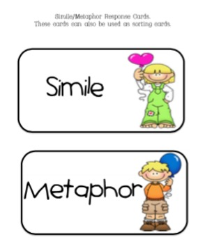 Simile & Metaphor Respnse Cards