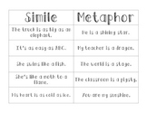Simile Metaphor Sort