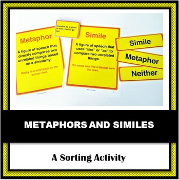 Simile & Metaphor Sort - A Berry Confused Vampire