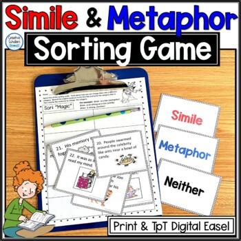 Simile And Metaphor Sort Teaching Resources Teachers Pay Teachers