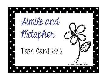 Simile Metaphor Task Cards