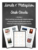 Simile and Metaphor Task Cards with Photographs
