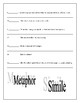 Simile / Metaphor Worksheet