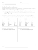 Simile-Metaphor Worksheet