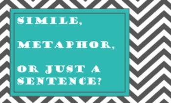 Simile, Metaphor, or Just a Sentence?  {flipchart freebie}