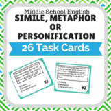 Simile Metaphor or Personification Task Cards