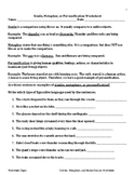 Simile, Metaphor, or Personification Worksheet