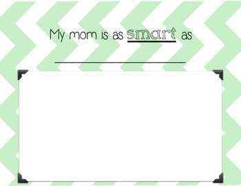 Simile- My Mom is as Awesome as a Simile- Mother's Day