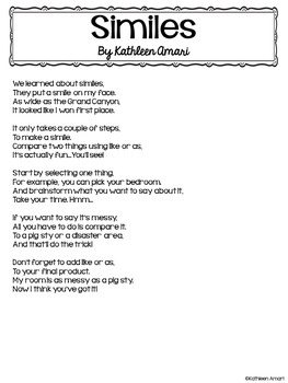 Simile Poem Freebie