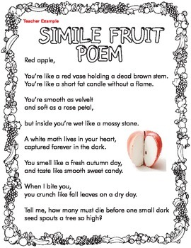 what is simile in poetry