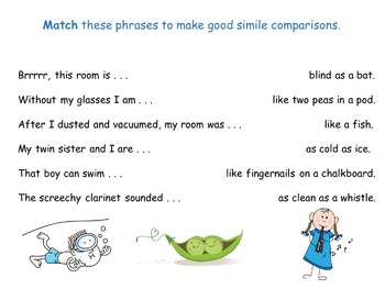 Simile Poster and Worksheet