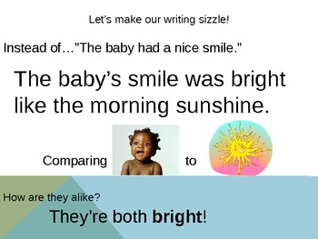 Simile Powerpoint - What are we comparing?