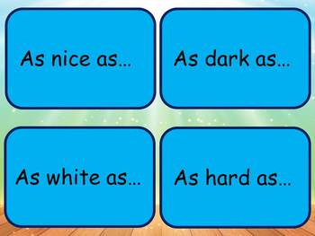 Simile Powerpoint and editable simile cards