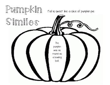 Simile Practice - Fall Theme