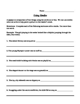 descriptive essay using similes How to write a descriptive paragraph include some figurative language using other effective writing techniques to top off your paragraph will make it all that more appealing and evocative i was assigned to write a descriptive essay about a garden.