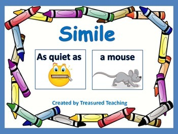 Simile Practice for Small Group Hands on Working with Word
