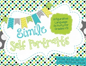 Simile Self Portraits Activity for Grades 2-5 (2 types of