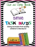 Simile Task Cards using Excerpts from Great Children's Lit