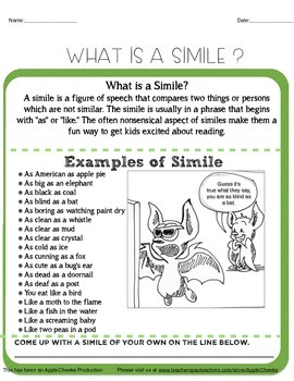 (Dollar Packet Sale) Simile Unit Aligned to the Common Core