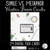 Simile Vs. Metaphor Winter Boom Cards