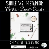 Simile Vs. Metaphor Winter Boom Cards