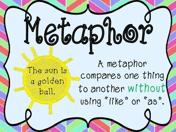 Simile And Metaphor Anchor Charts