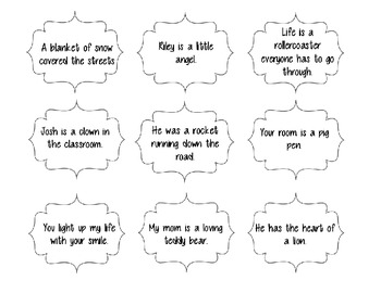 Simile and Metaphor Card Sort