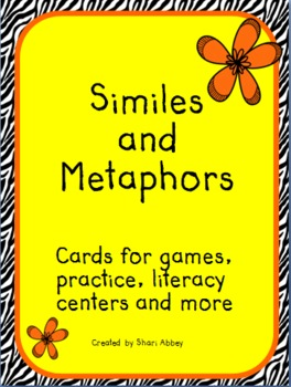 Simile and Metaphor Cards for Games, Literacy Centers, and More