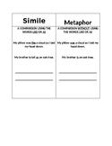 Simile and Metaphor Chart