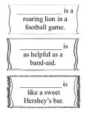 Simile and Metaphor Class Activity Sort - Using the studen